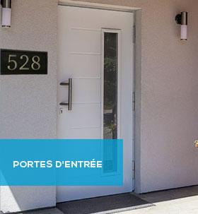 Portes d'entrée PVC, Alu, Bois - remplacement et pose