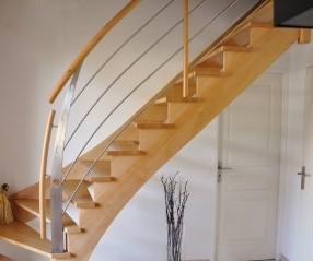 Escaliers bois sur mesure Chartres